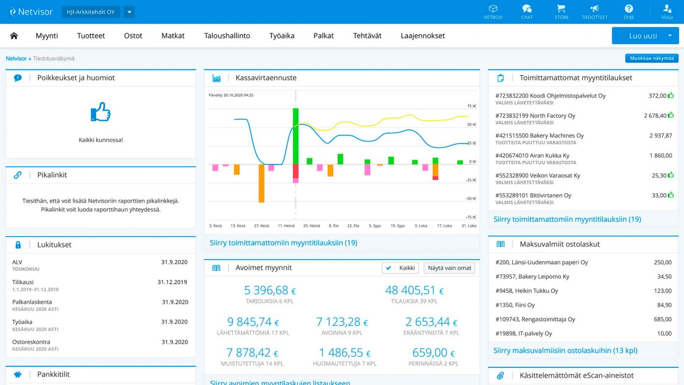 netvisor dashboard