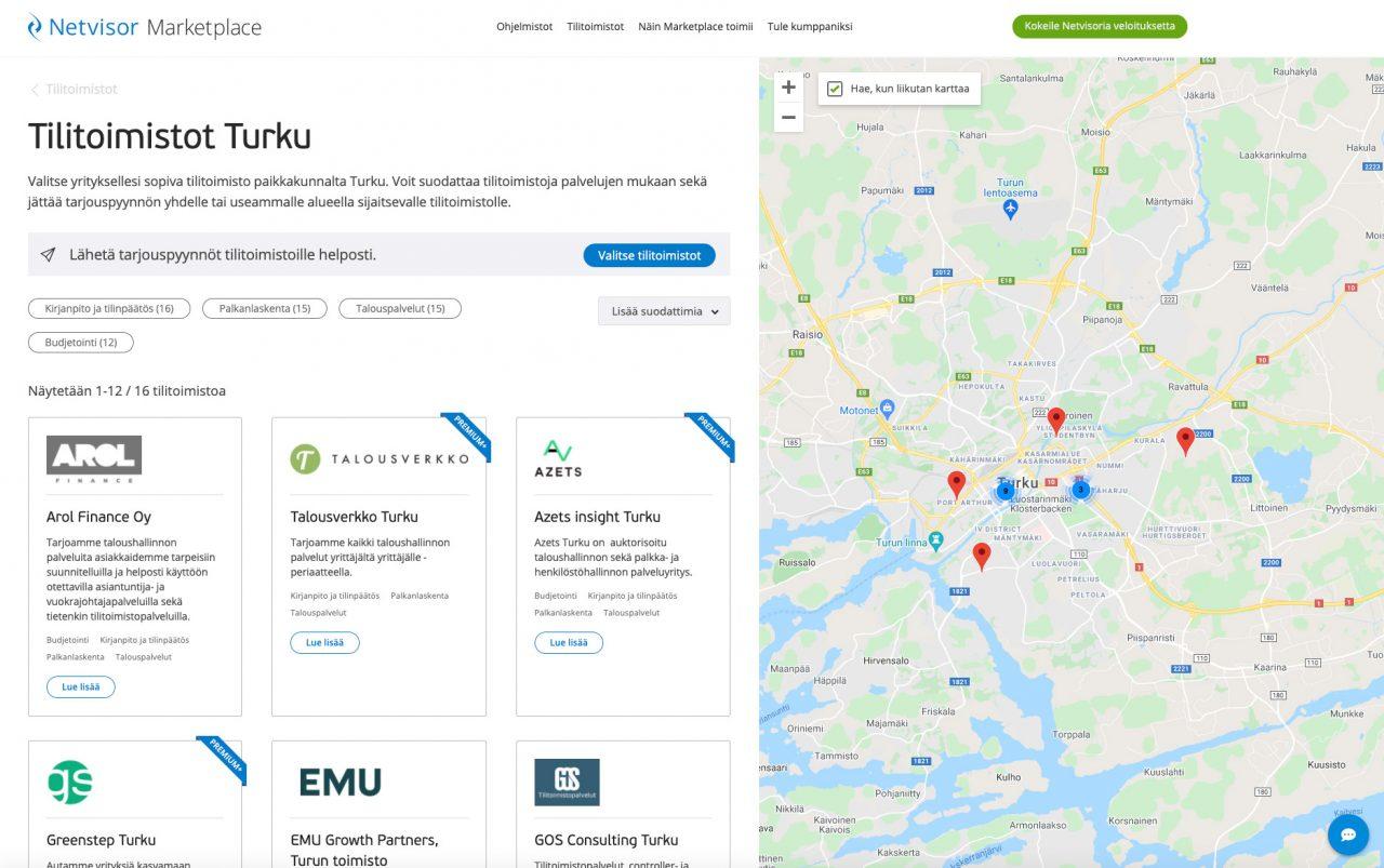 Netvisor Marketplace tilitoimistot