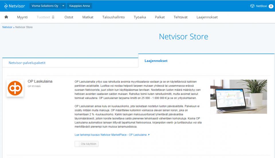 OP Laskulaina Netvisor Storesta